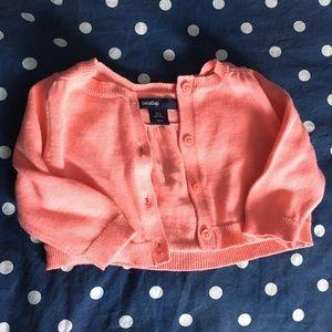 Coral Cotton Cardigan Sweater